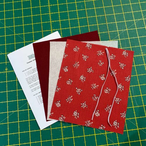 Pleated Face Covering Kit: Liberty: Flower Show Winter: Abbeywood Red