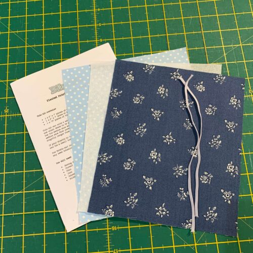 Pleated Face Covering Kit: Liberty: Flower Show Winter: Abbeywood Blue
