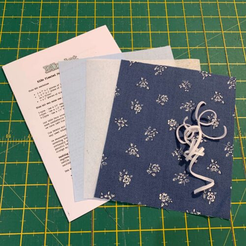 Children's Pleated Face Covering Kit: Liberty: Flower Show Winter Abbeywood/Blue
