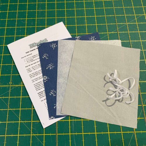 Children's Pleated Face Covering Kit: Liberty: Flower Show Winter Abbeywood/Grey