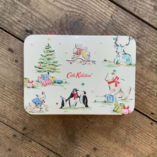 Cath Kidston Festive Party Animals Hand and Lip Tin