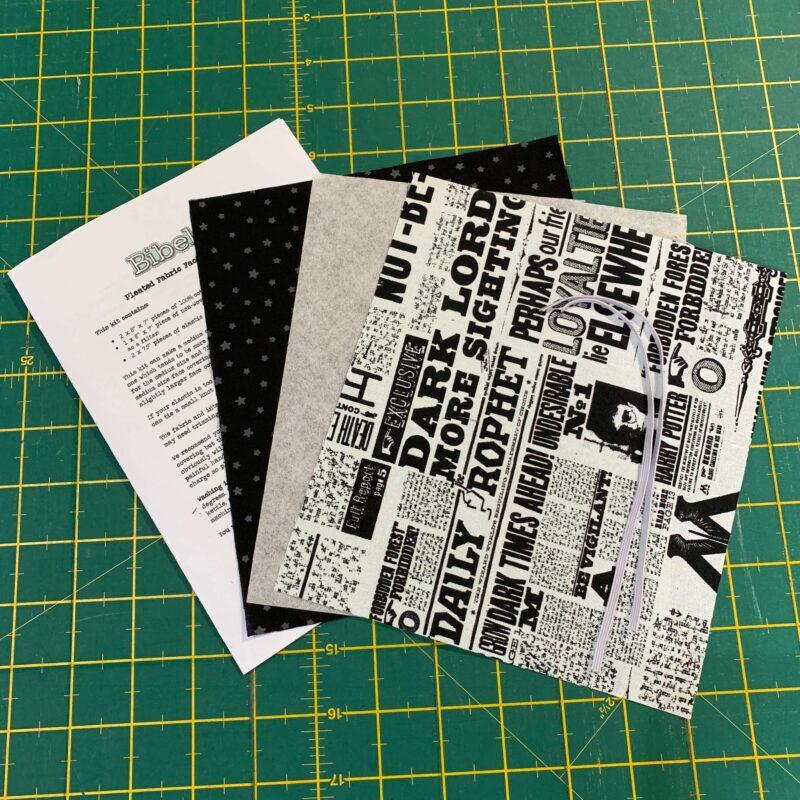 Pleated Face Mask Kit: Harry Potter: Newsprint
