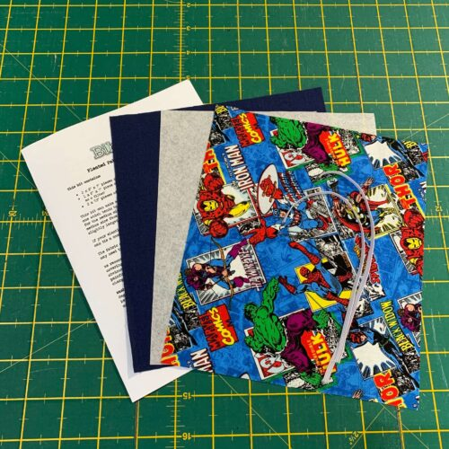 Pleated Face Covering Kit: Marvel: Comic Burst Blue