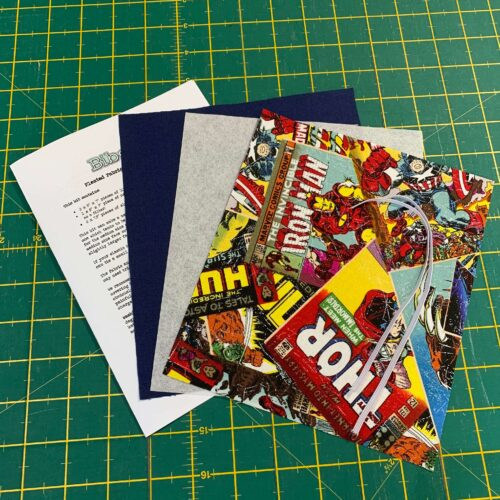 Pleated Face Covering Kit: Marvel: Comic Book