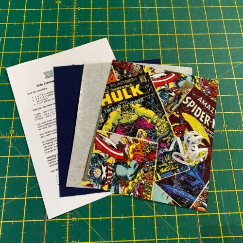 Children's Pleated Face Covering Kit: Marvel: Comic Book