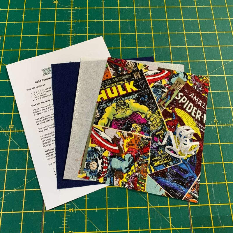 Children's Pleated Face Covering Kit: Marvel: Comic Book