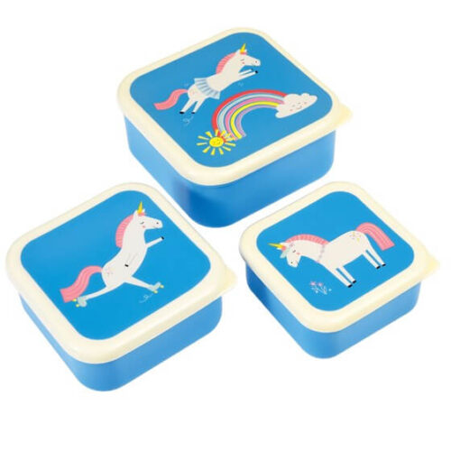 Magical Unicorn Set of 3 Snack Boxes