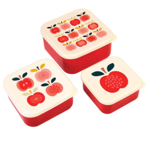 Vintage Apple Set of 3 Snack Boxes