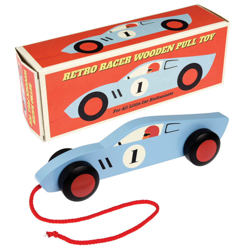 Wooden Retro Racer Pull Toy