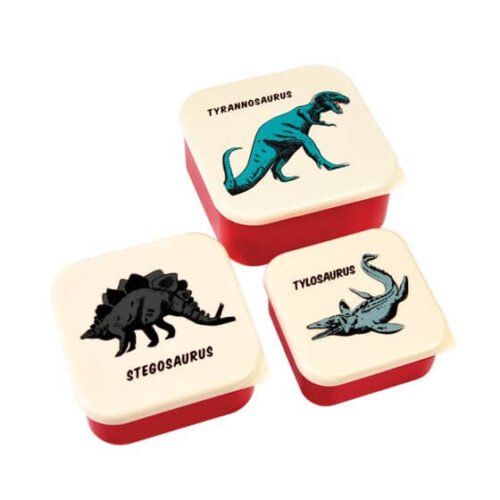 Prehistoric Land Set of 3 Snack Boxes