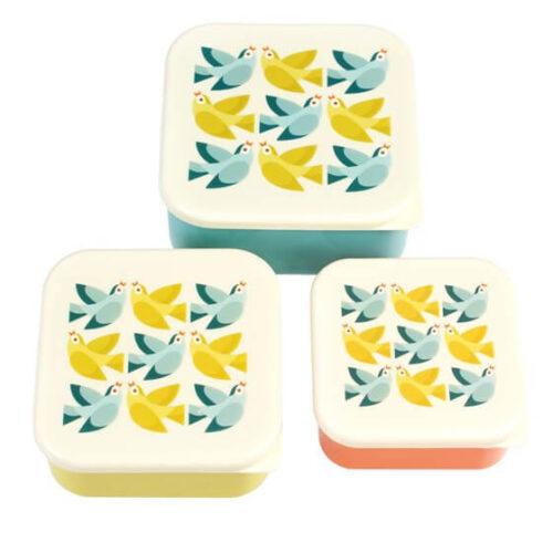 Love Birds Set of 3 Snack Boxes