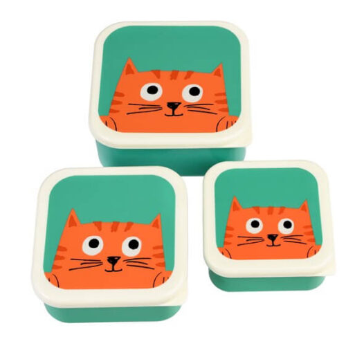 Chester the Cat Set of 3 Snack Boxes