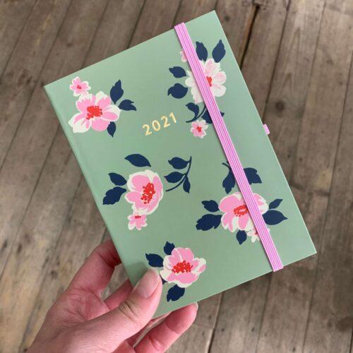 Cath Kidston A6 Diary 2021 Khaki Dusk Floral