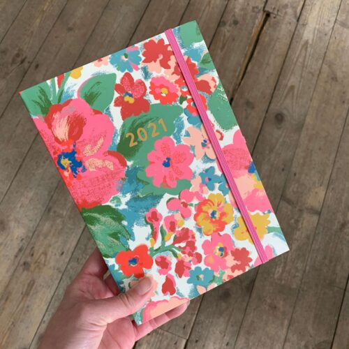 Cath Kidston A5 Diary 2021 Painted Bloom