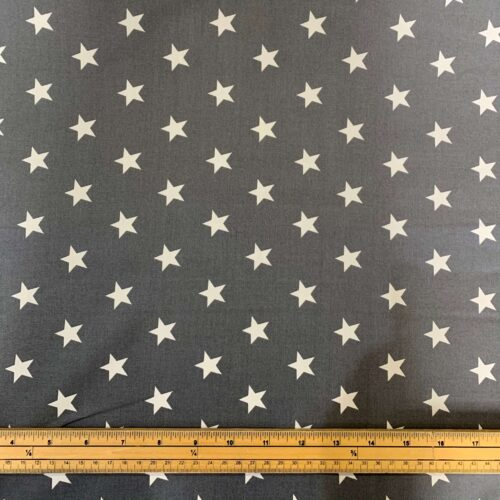 Rose & Hubble Grey Star Cotton Poplin Fabric - Fat Quarter