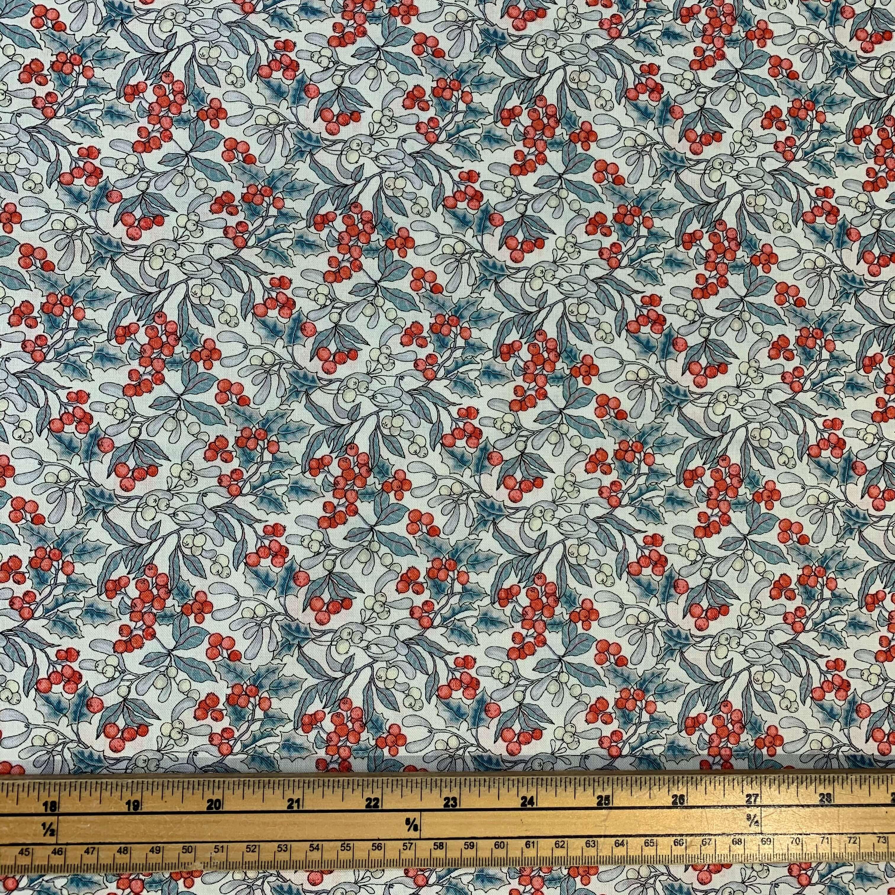 Liberty Fabrics A Festive Collection Mini Christmas Berry Fat Quarter Bibelot