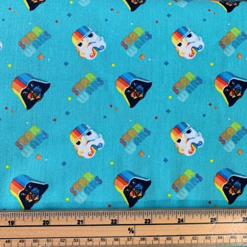 Star Wars Rainbow Empire Helms Cotton Fabric - Fat Quarter
