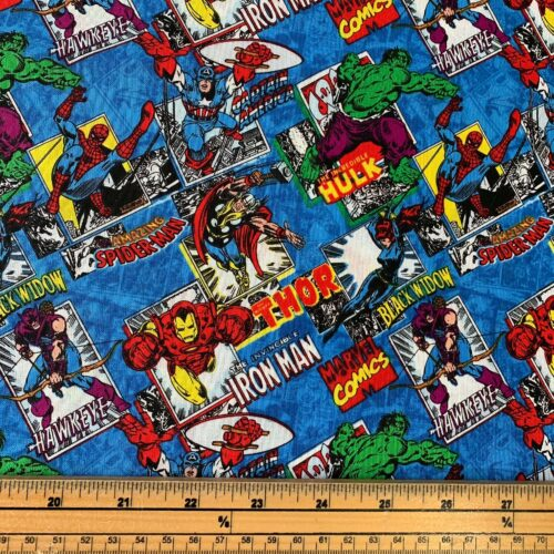 Marvel Burst Blue Cotton Fabric - Fat Quarter