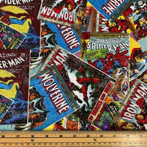Marvel Comic Book Cotton Fabric - Fat Quarter