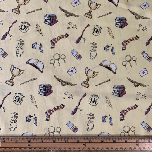 Harry Potter Magic Cotton Fabric - Fat Quarter