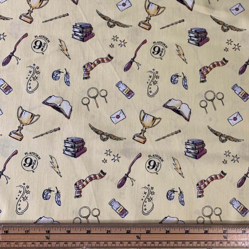Harry Potter Magic Cotton Fabric - Fat Quarter