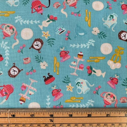 Riley Blake Beauty and the Beast Blue - Fat Quarter