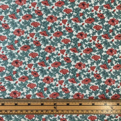 Liberty Fabrics - Winterbourne House: Nina Poppy: Red - Fat Quarter