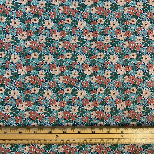 Liberty Fabrics - Winterbourne House: Primula Posy: Turquoise - Fat Quarter