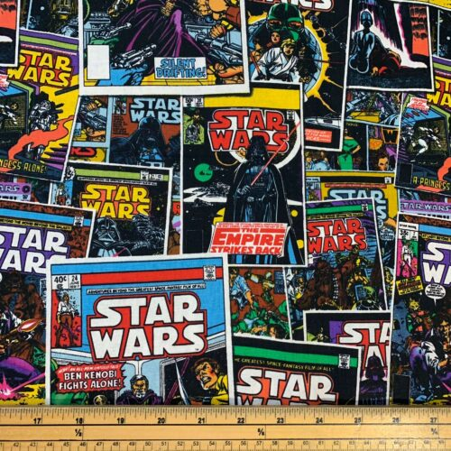 Star Wars Comic Book Cotton Fabric - Fat Quarter