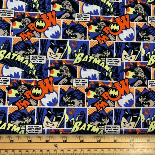 Batman Pop Comics Cotton Fabric - Fat Quarter