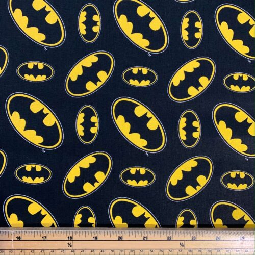 Batman Logo Cotton Fabric - Fat Quarter