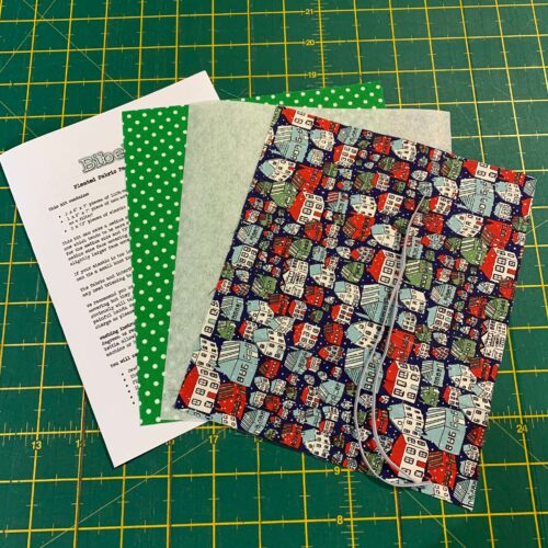 Pleated Face Covering Kit: Liberty: A Festive Collection: Yule Town