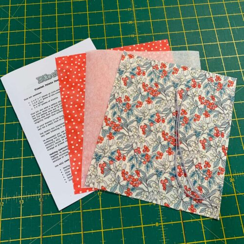 Pleated Face Covering Kit: Liberty: A Festive Collection: Mini Christmas Berry