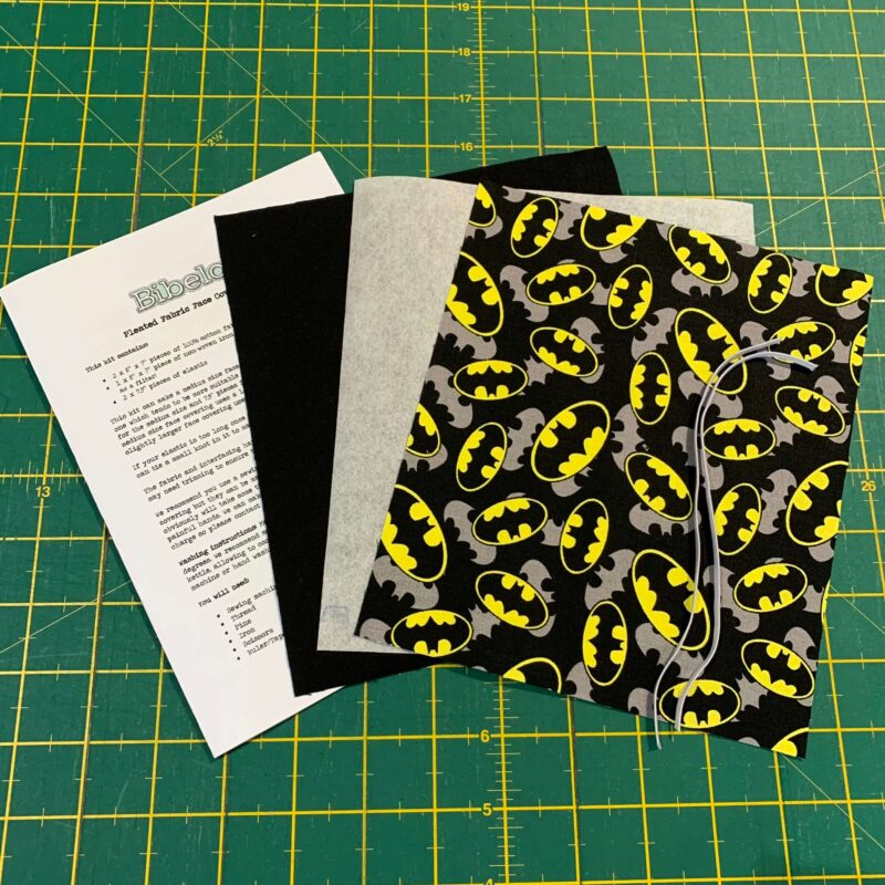 Pleated Face Covering Kit: DC: Batman Logo Overlay