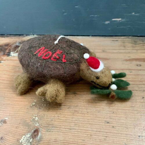 Felt Noel Tortoise Christmas Decoration