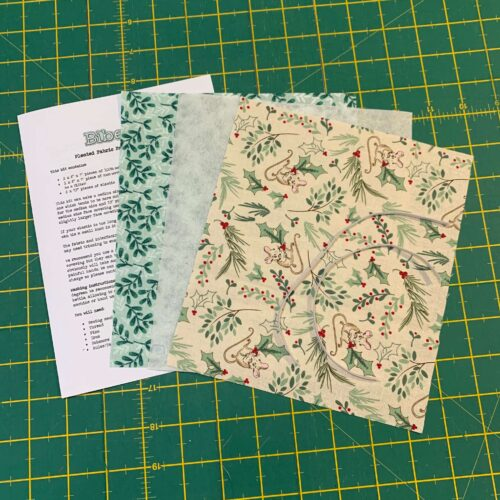 Pleated Face Covering Kit: A Christmas Tail Holly Mice & Mistletoe