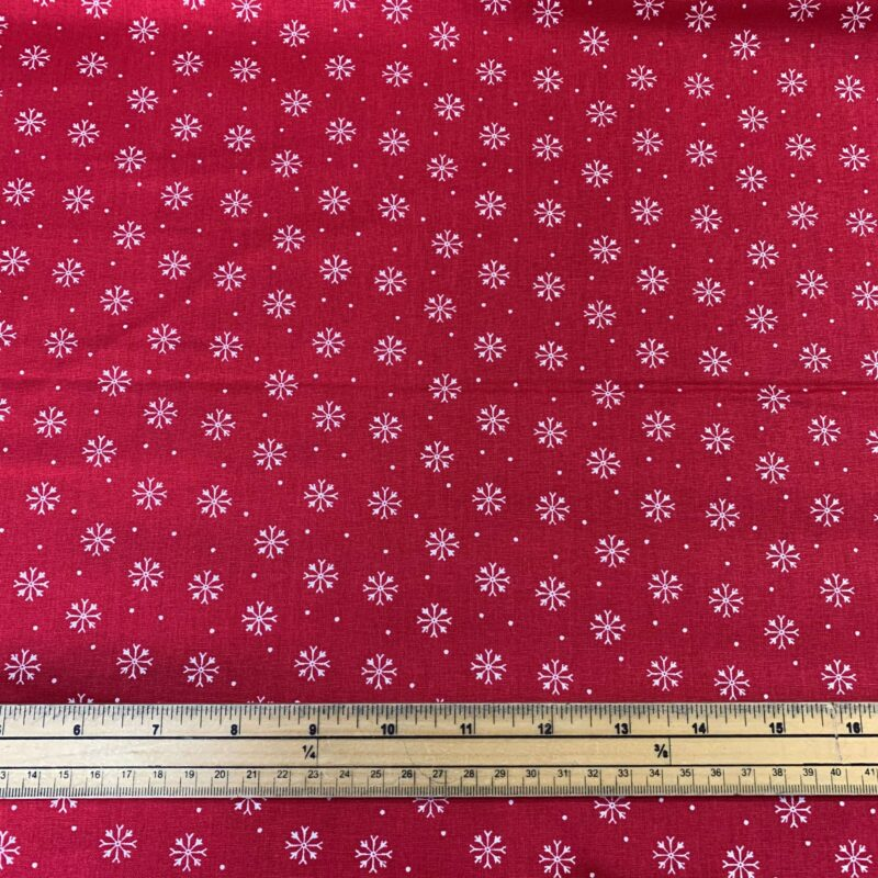 Christmas Dogs Snowflakes Cotton Fabric - Fat Quarter