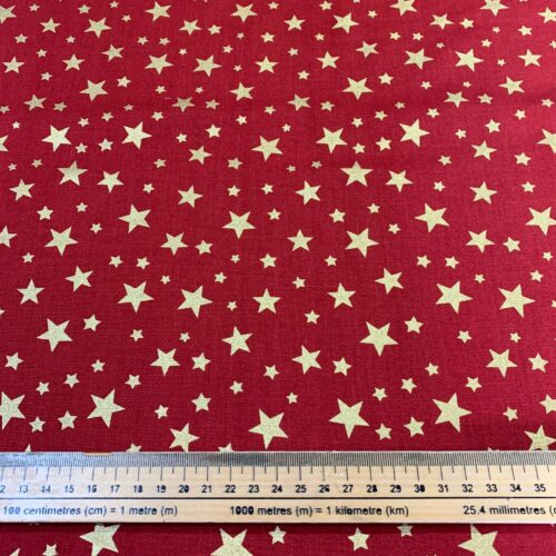 Christmas 3 Wishes Shimmer & Sparkle Cotton Fabric - Fat Quarter