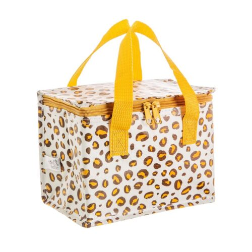 Natural Leopard Print Insulated Lunch Bag