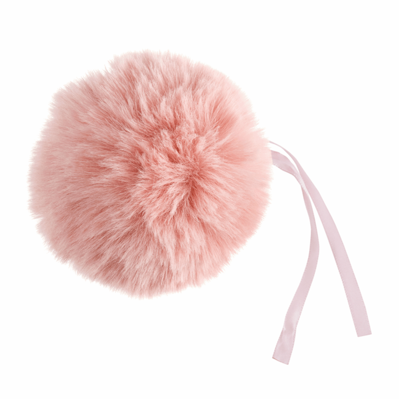 Faux Fur Light Pink Pom Pom