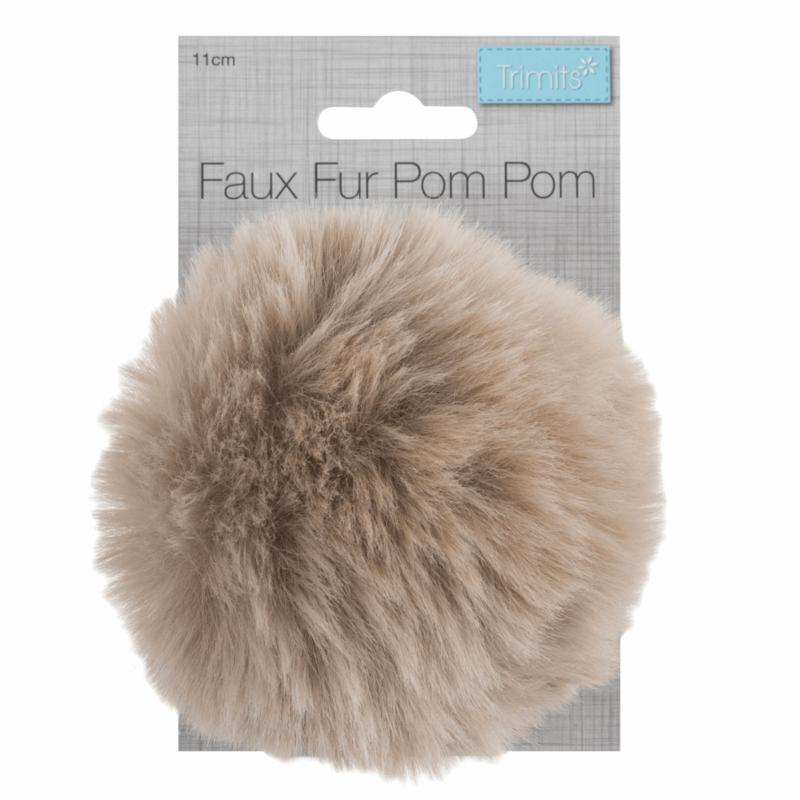 Faux Fur Natural Pom Pom