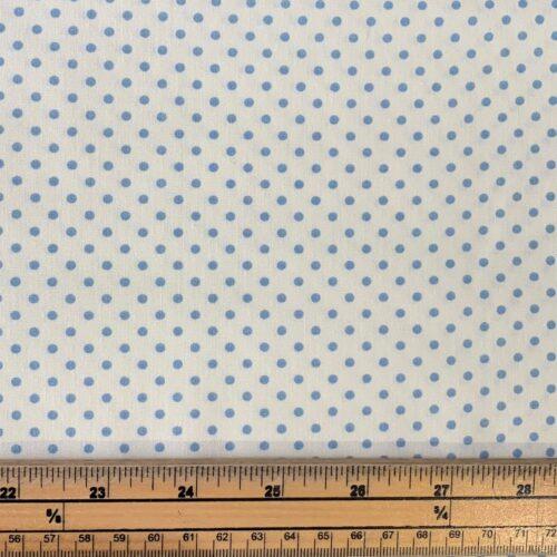 Dotty Cream/Blue Cotton Poplin Fabric - Fat Quarter