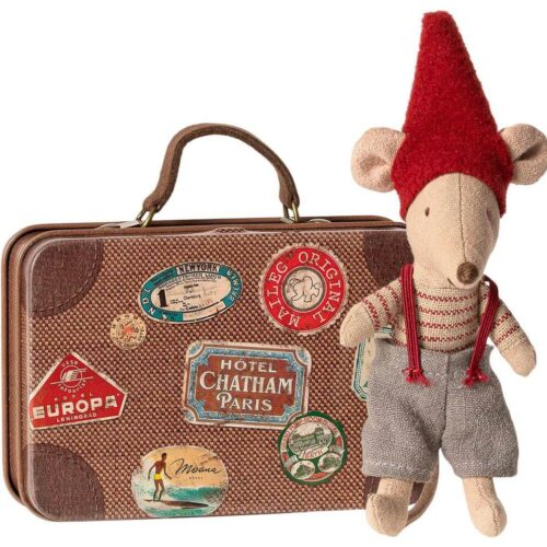 Maileg Little Christmas Mouse in Suitcase