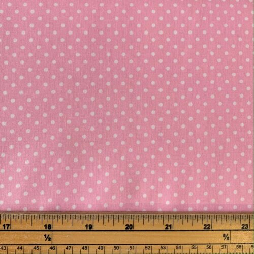 Dotty Pink Cotton Poplin Fabric - Fat Quarter