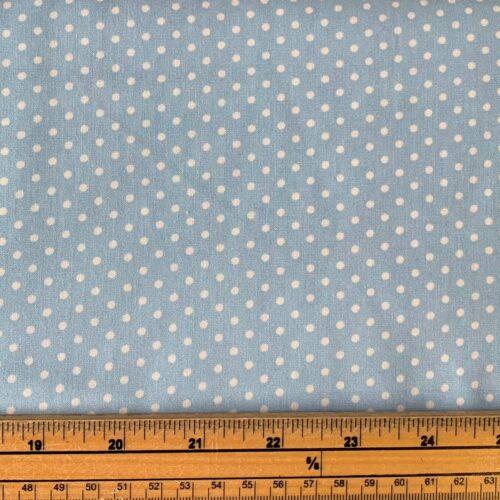 Dotty Powder Blue Cotton Poplin Fabric - Fat Quarter