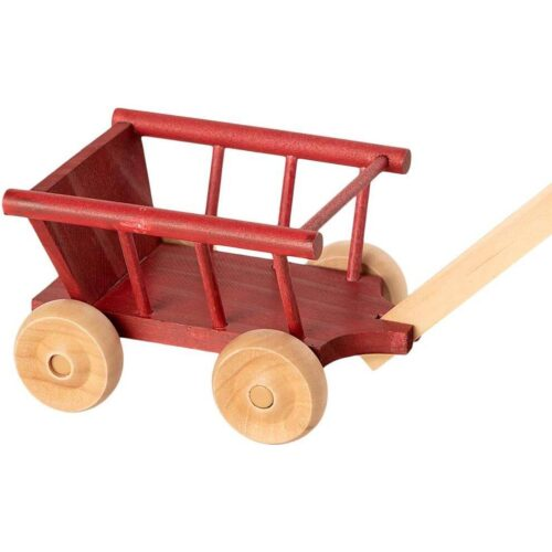 Maileg Micro Mouse Wagon: Dusty Red