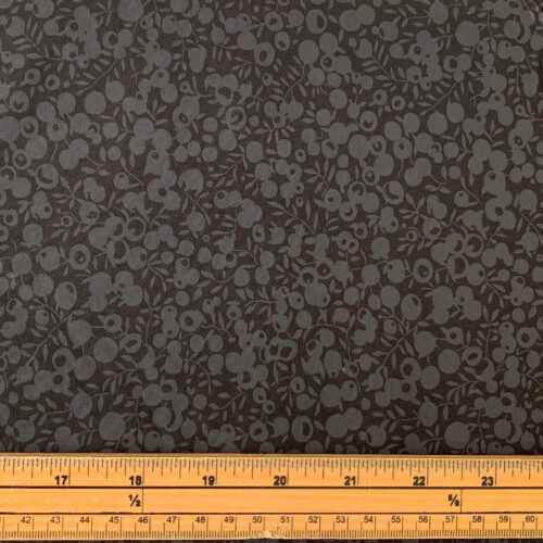 Liberty Fabrics - Wiltshire Shade: Black - Fat Quarter
