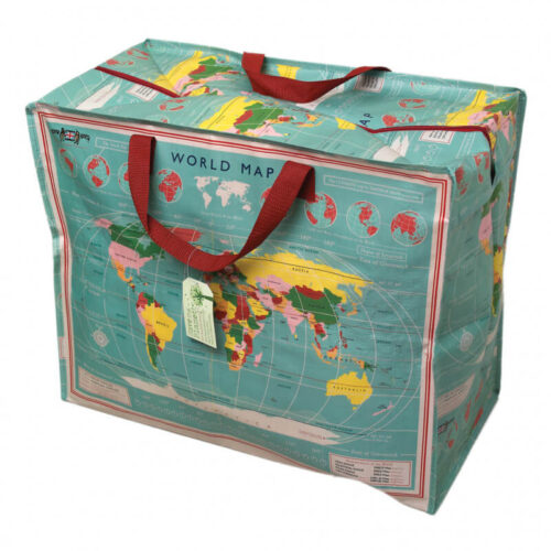 Vintage Map Jumbo Storage Bag