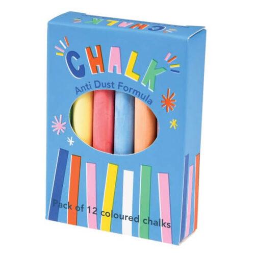 Coloured Chalk Sticks (box of 12)