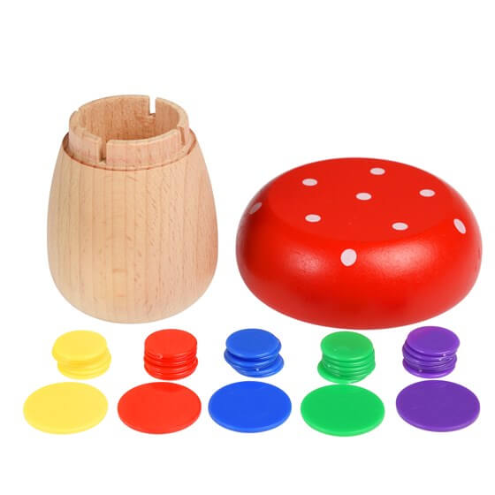 Wooden Mushroom Tiddlywinks